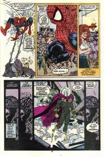 Trzęsienia ziemi - kolejna z taktyk wykorzystywanych wielokrotnie; Spider-Man w trakcie trzęsień ratuje przechodniów, którzy w rzeczywistości nie istnieją