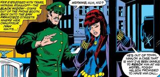 """Red Skull nazywa Czarną Wdowę """"córką Iwana"""". W komiksach Marvela pojawia się Iwan Petrowicz, który adoptował Nataszę po jej uratowaniu z płonącego budynku."""