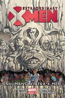 Extraordinary X-Men - Inhumans kontra X-Men - okładka