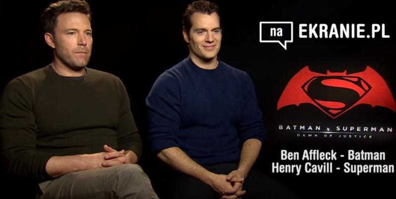 Ben Affleck i Henry Cavill dla naEKRANIE.pl – obejrzyj wywiad z gwiazdami Batman v Superman