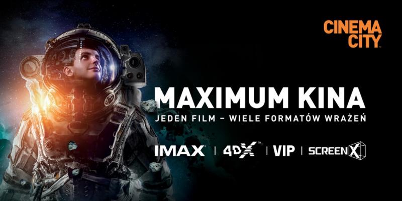 IMAX, 4DX i ScreenX - Cinema City stawia na nowe technologie