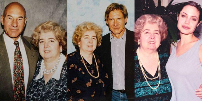 Starsza pani, gwiazdy Hollywood i tajemniczy album. Te dziwne zdjęcia kryją większą historię