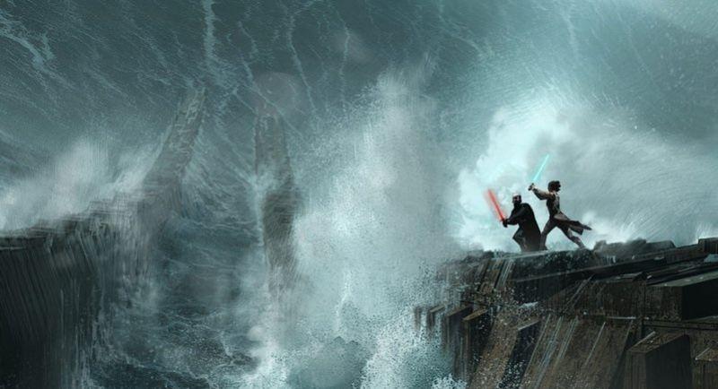 Skywalker. Odrodzenie - Rey i Kylo Ren na nowych szkicach koncepcyjnych