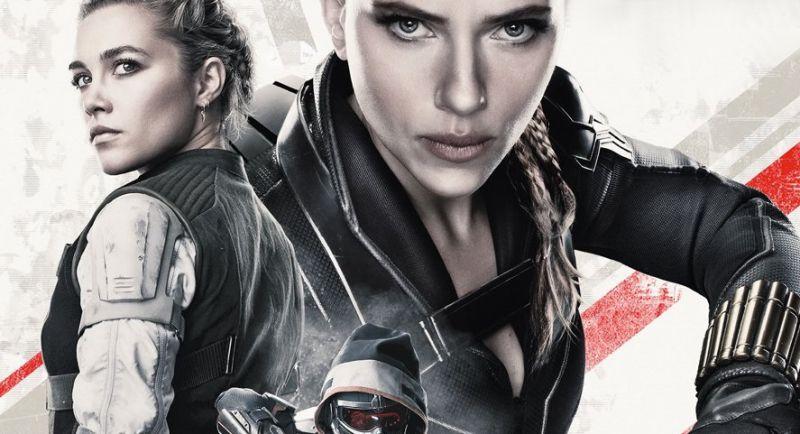 Czarna Wdowa - bohaterowie filmu w bojowych pozycjach na okładce magazynu