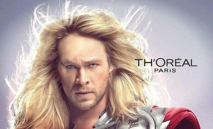 Thor w reklamie, Deadpool i Marylin Monroe w jednym filmie. Zobacz słynne postacie w dziwnych sytuacjach [GALERIA]