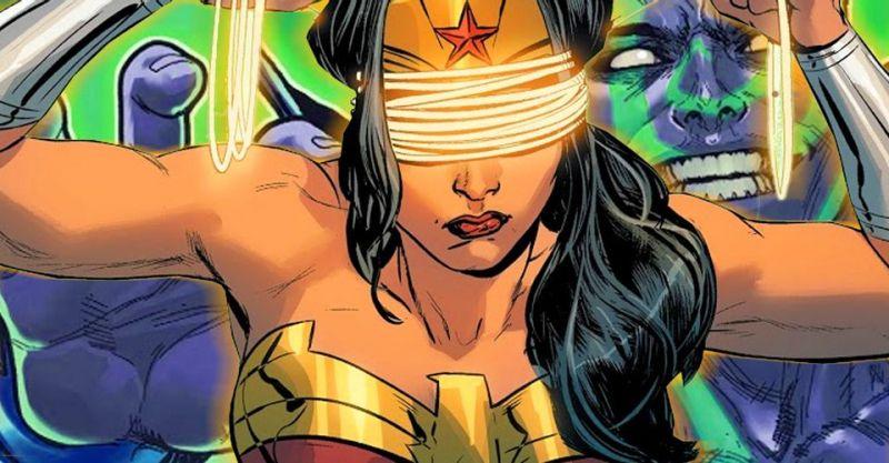 Wonder Woman nie widząc walczy lepiej niż sam Daredevil. Spójrzcie sami