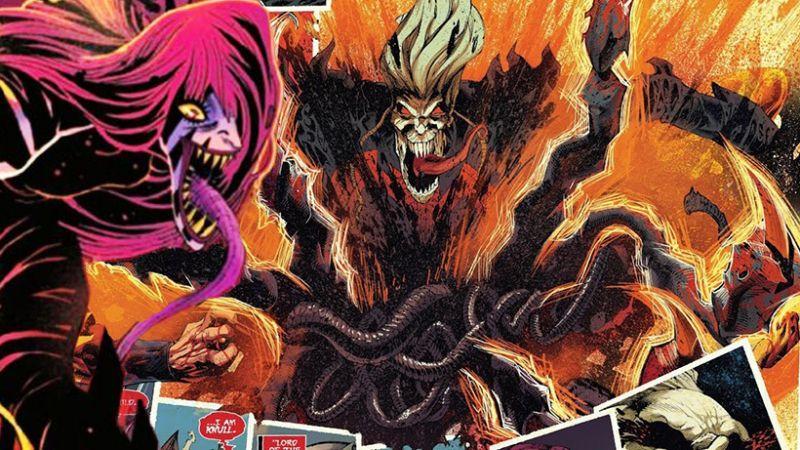 Marvel - Knull ma kłopot; potężny miecz w King in Black. Carnage gra na... gitarze śmierci
