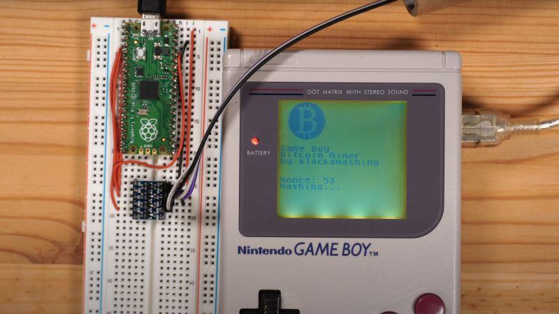 Moder zamienił Game Boya w koparkę kryptowalut