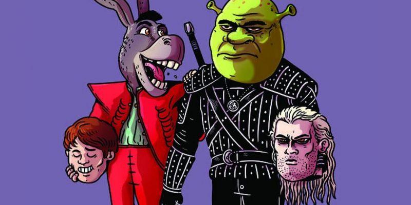 Baby Yoda to Gizmo, Wiedźmin jako Shrek. Świetne prace artysty pokazują postacie pod maskami