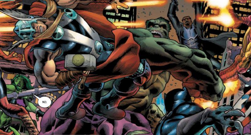 Marvel - arcybrutalna bitwa Hulka z Avengers. Matko jedyna, co on zrobił z Thorem!?