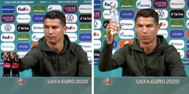 Gest Cristiano Ronaldo policzony. Gigantyczna strata Coca-Coli po konferencji EURO z udziałem piłkarza