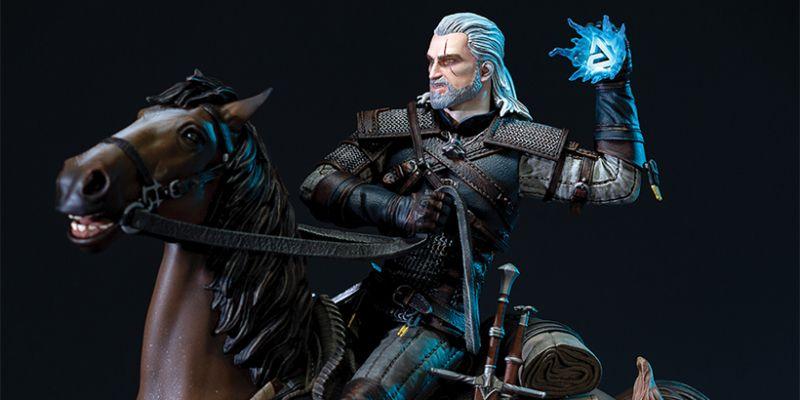 Wiedźmin 3: Dziki Gon - Geralt i Płotka jak wyjęci z gry! Zobacz świetną figurkę