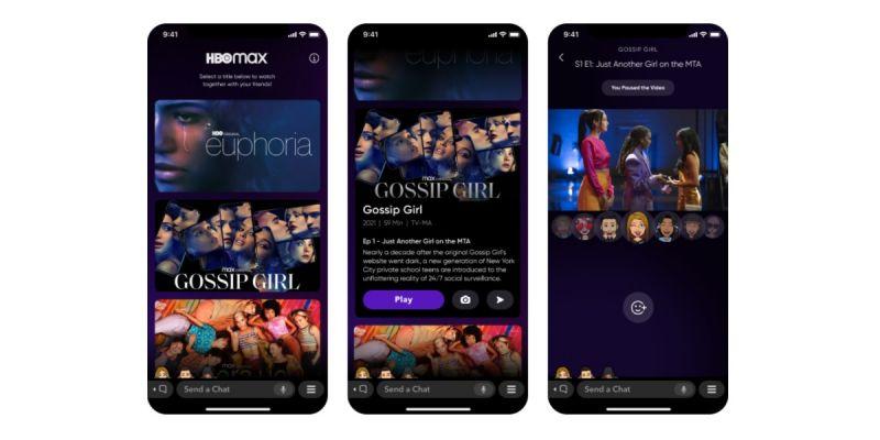 HBO Max umożliwi wspólne oglądanie seriali za pośrednictwem Snapchata