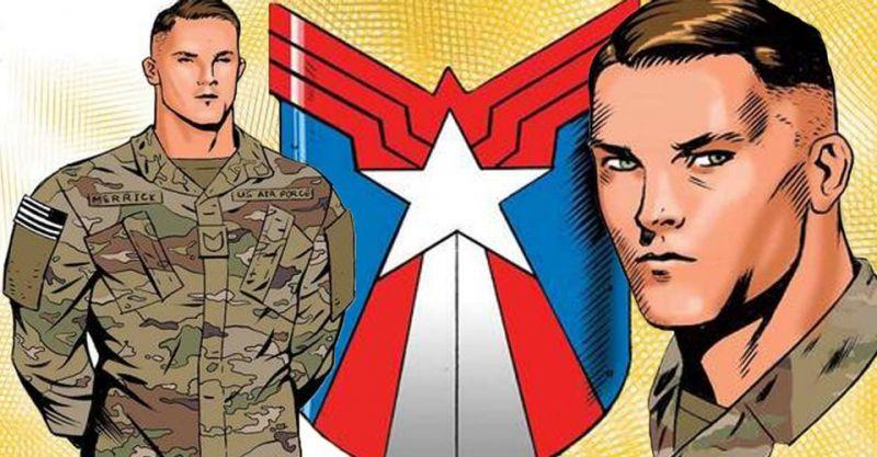 Oto ostatni z nowych Kapitanów Ameryka z kontrowersyjnej serii. Wojak, jakich mało