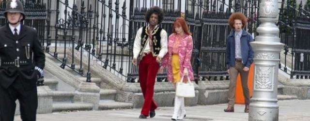 Andre Benjamin na zdjęciu jako Jimi Hendrix