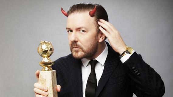 Złote Globy - Ricky Gervais powróci jako gospodarz po raz piąty