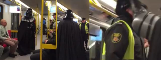 [UPDATE] Wardęga aresztowany za strój Dartha Vadera – wypowiedź Wardęgi