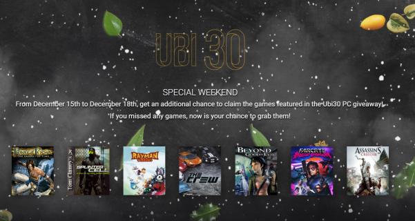 Wszystkie gry z promocji UBI30 ponownie dostępne za darmo