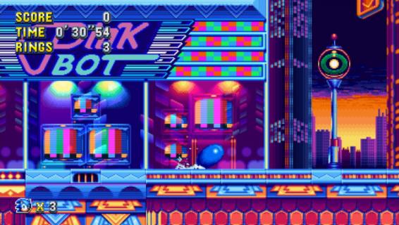 Nadbiega niebieski jeż. 3 minuty rozgrywki z gry Sonic Mania
