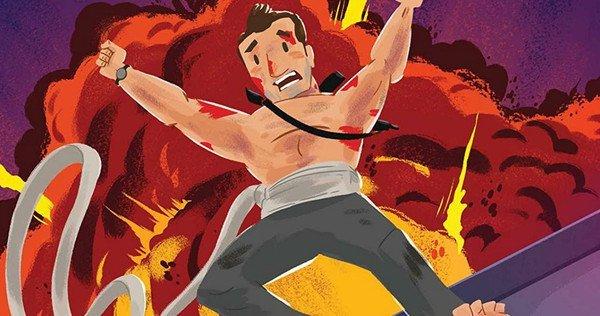 A Die Hard Christmas – są grafiki z ilustrowanej książki opartej na Szklanej pułapce