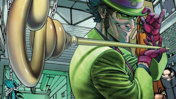 Batman - najlepsze do tej pory spojrzenie na kostium Riddlera daje... reklama napoju gazowanego