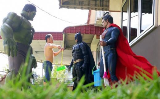 Życie codzienne z superbohaterami. Zobacz pomysłową galerię