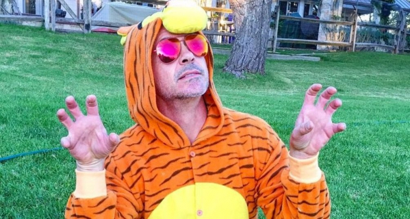 Robert Downey Jr. świętuje Halloween z Iron Manem i Spider-Manem