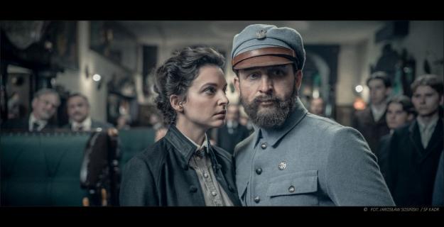 Piłsudski - plakaty z bohaterami filmu historycznego