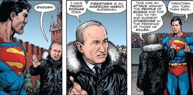 Tego jeszcze nie było. Władimir Putin w komiksie DC