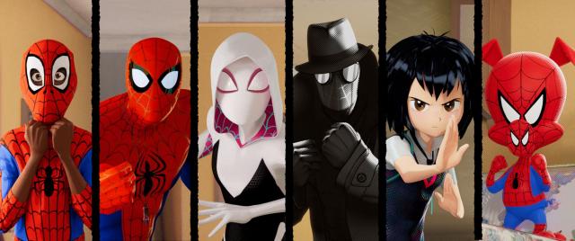 Spider-Man Uniwersum – grafiki z filmu animowanego. Są Pajączki