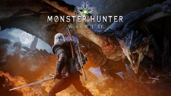 Wiedźmin mierzy się z bestiami z Monster Hunter World. Zwiastun wydarzenia