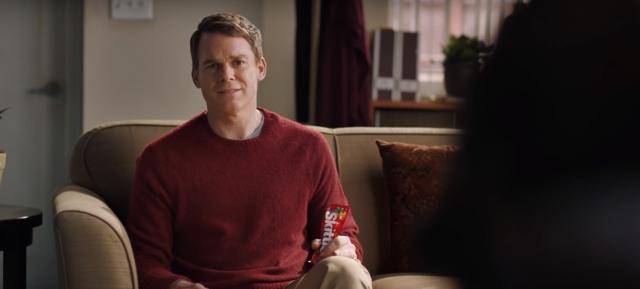 Michael C. Hall z Dextera promuje Skittles. Spot z Super Bowl