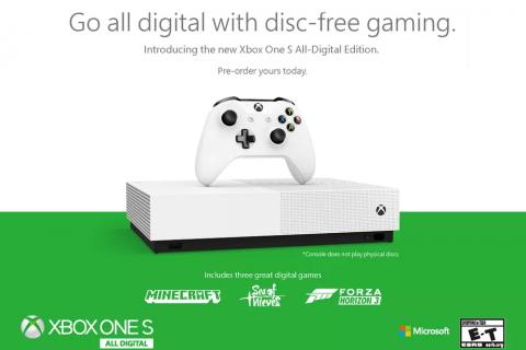 Xbox One S All-Digital w Polsce zadebiutuje później