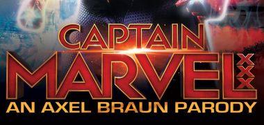 Kapitan Marvel - zdjęcie superbohaterki z porno parodii. Filmowy kostium
