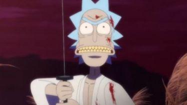 Rick and Morty - film krótkometrażowy w klimacie anime. Samurai kontra ninja