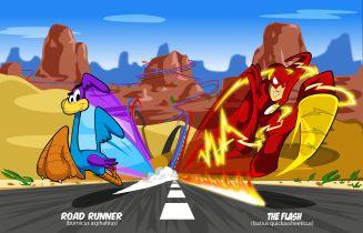 Beep, beep! Flash był wariatem prędkości. Aż w końcu spotkał pewną mysz i strusia...