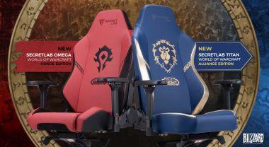 World of Warcraft doczeka się własnych... foteli. Po jednym dla Hordy i Przymierza