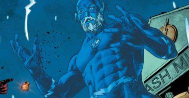 Flash przyszłości stracił ciało. Tak, niebieski duch na grafice to Barry Allen