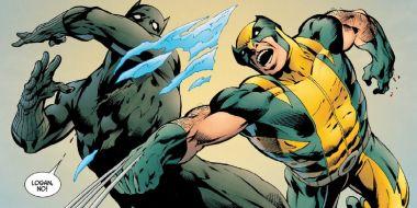 Marvel - Wolverine walczy z Czarną Panterą. Ostatnia plansza może sugerować zwycięzcę