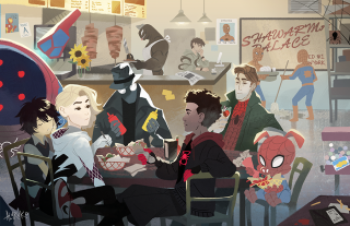 Spider-Man Uniwersum - fan-art Avengers