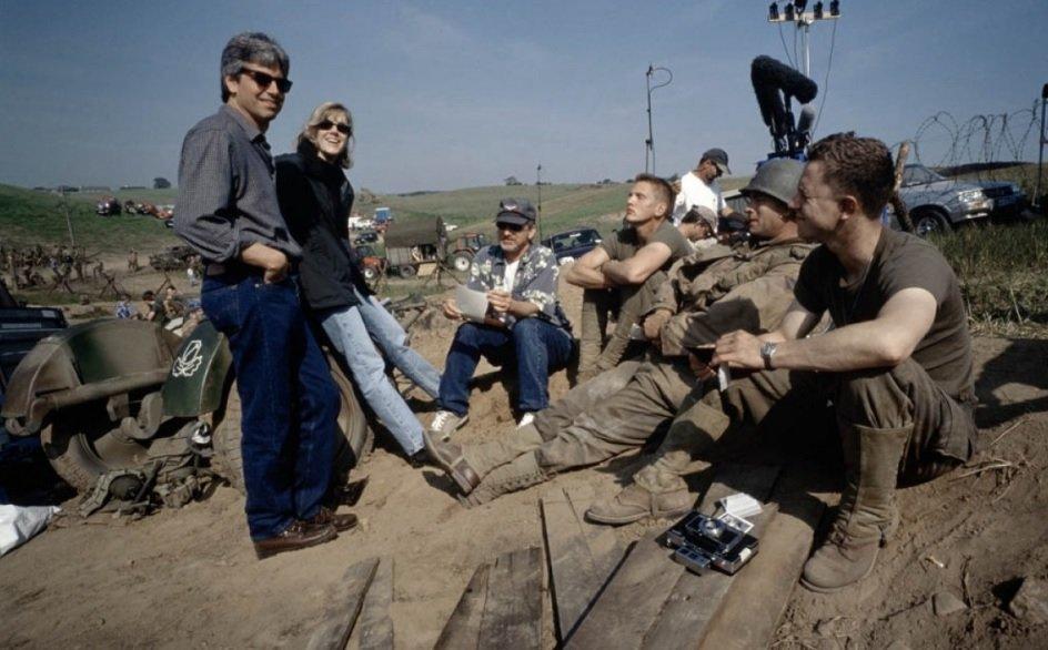 Szeregowiec Ryan - zdjęcie z planu wojennej produkcji