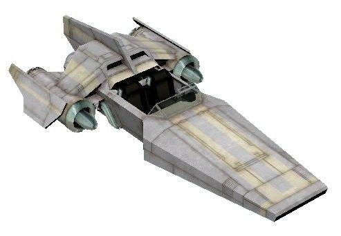 """AV-21 - śmigacz z Korelii, który po raz pierwszy pojawił się w grze """"Star Wars: Galaxies"""". Han mówił w filmie, że kradł takie od dziecka"""