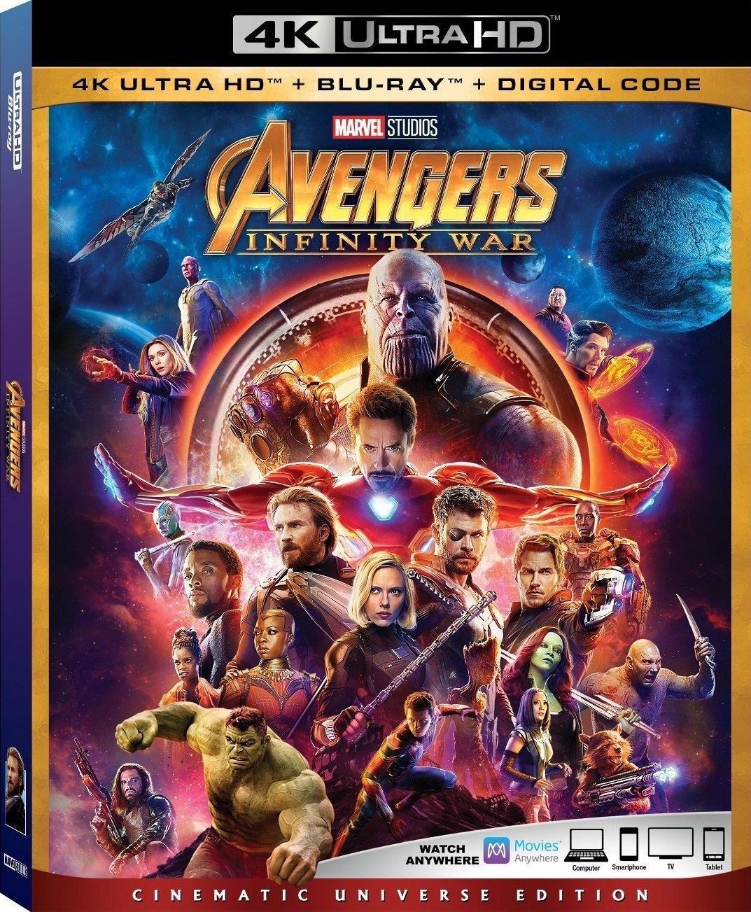 Avengers: Wojna bez granic - wydanie Blu-ray/4K