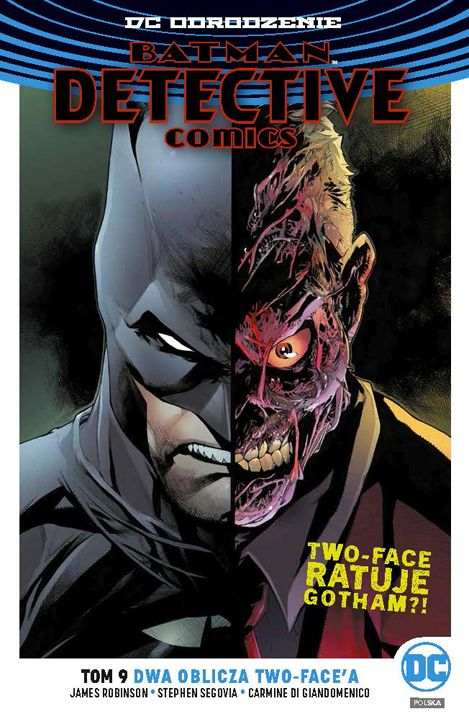 Batman – Detective Comics – Dwa oblicza Two-Face'a, tom 9 - okładka