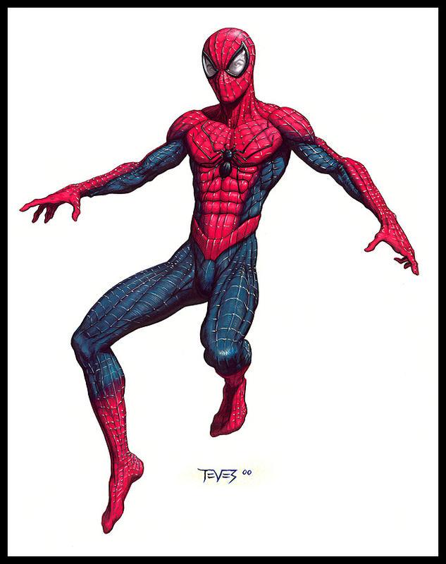 Spider-Man 2002 szkic koncepcyjny