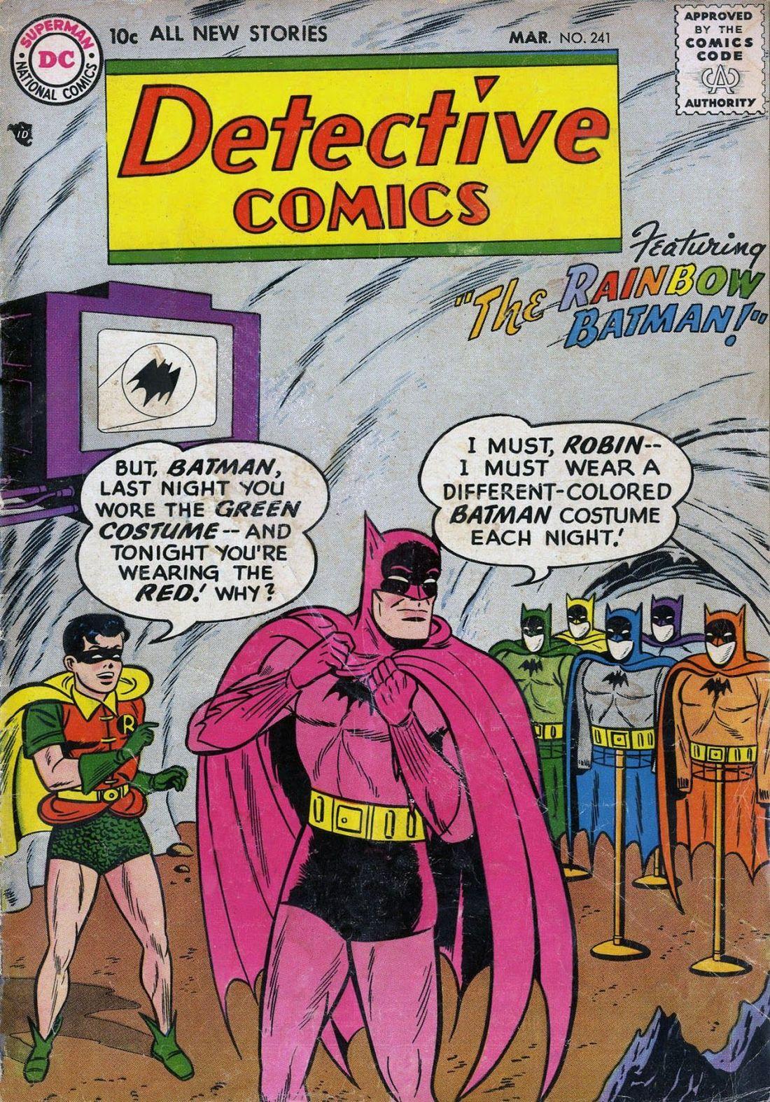 Tęczowe stroje Batmana - rok 1957