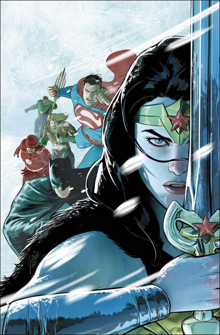 Justice League: Endless Winter #1 - okładka