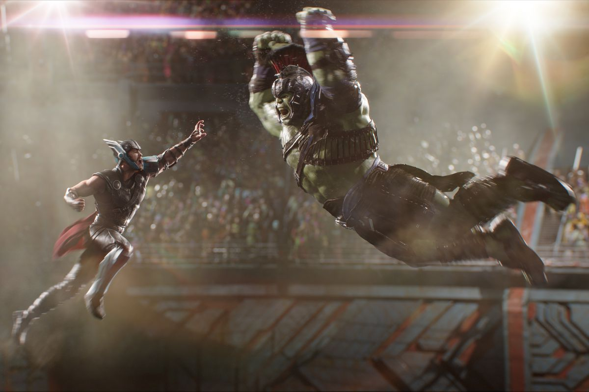 50. Walka Thora z Hulkiem na arenie gladiatorów – Thor: Ragnarok