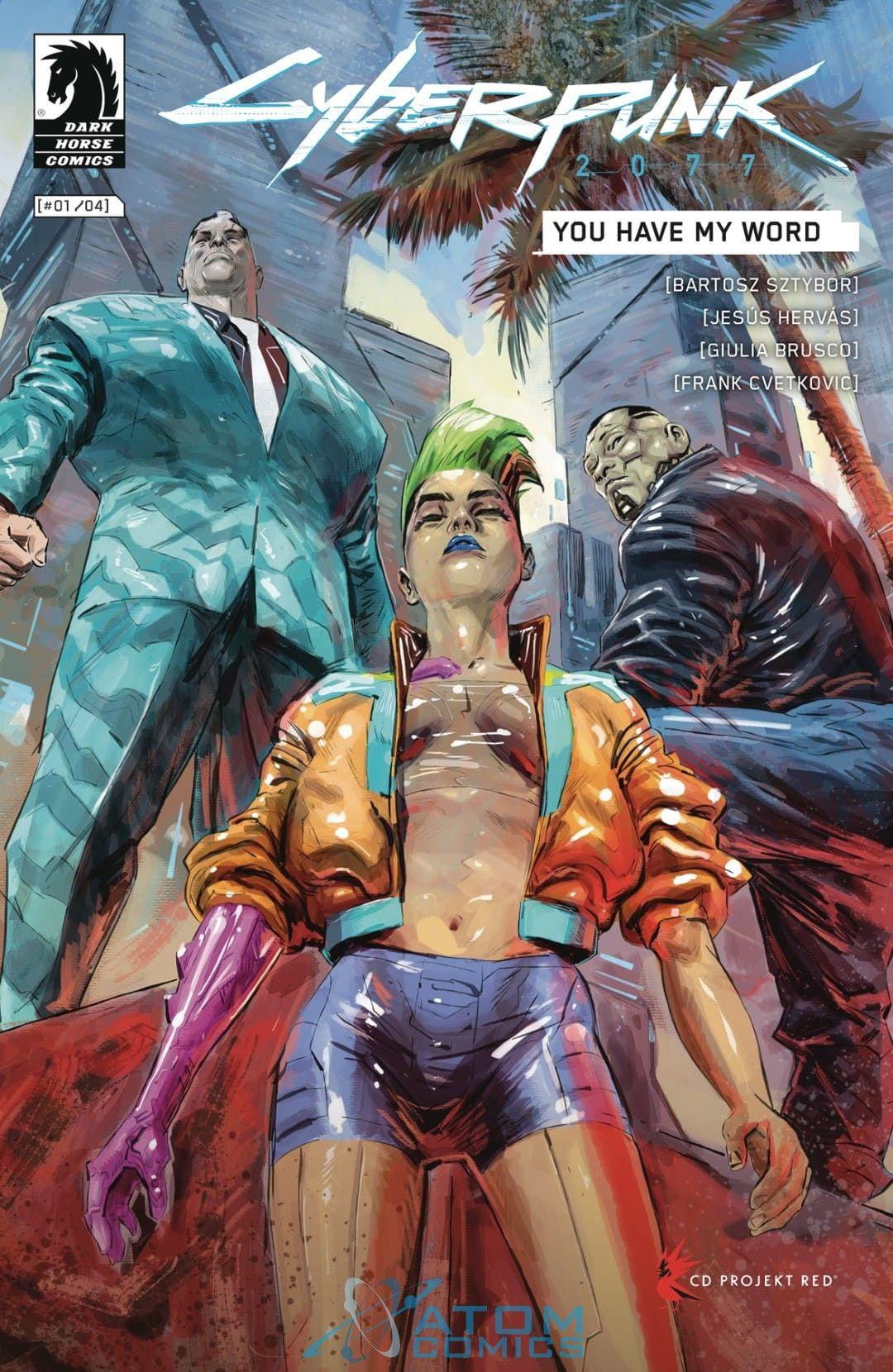 Cyberpunk 2077 komiks okładka