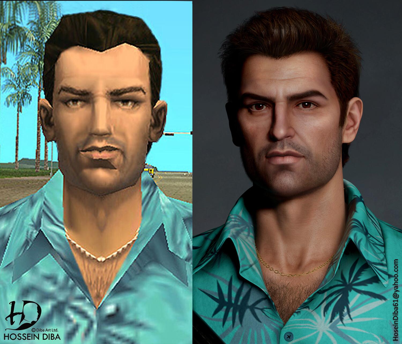 Grand Theft Auto - bohaterowie serii w realistycznym stylu
